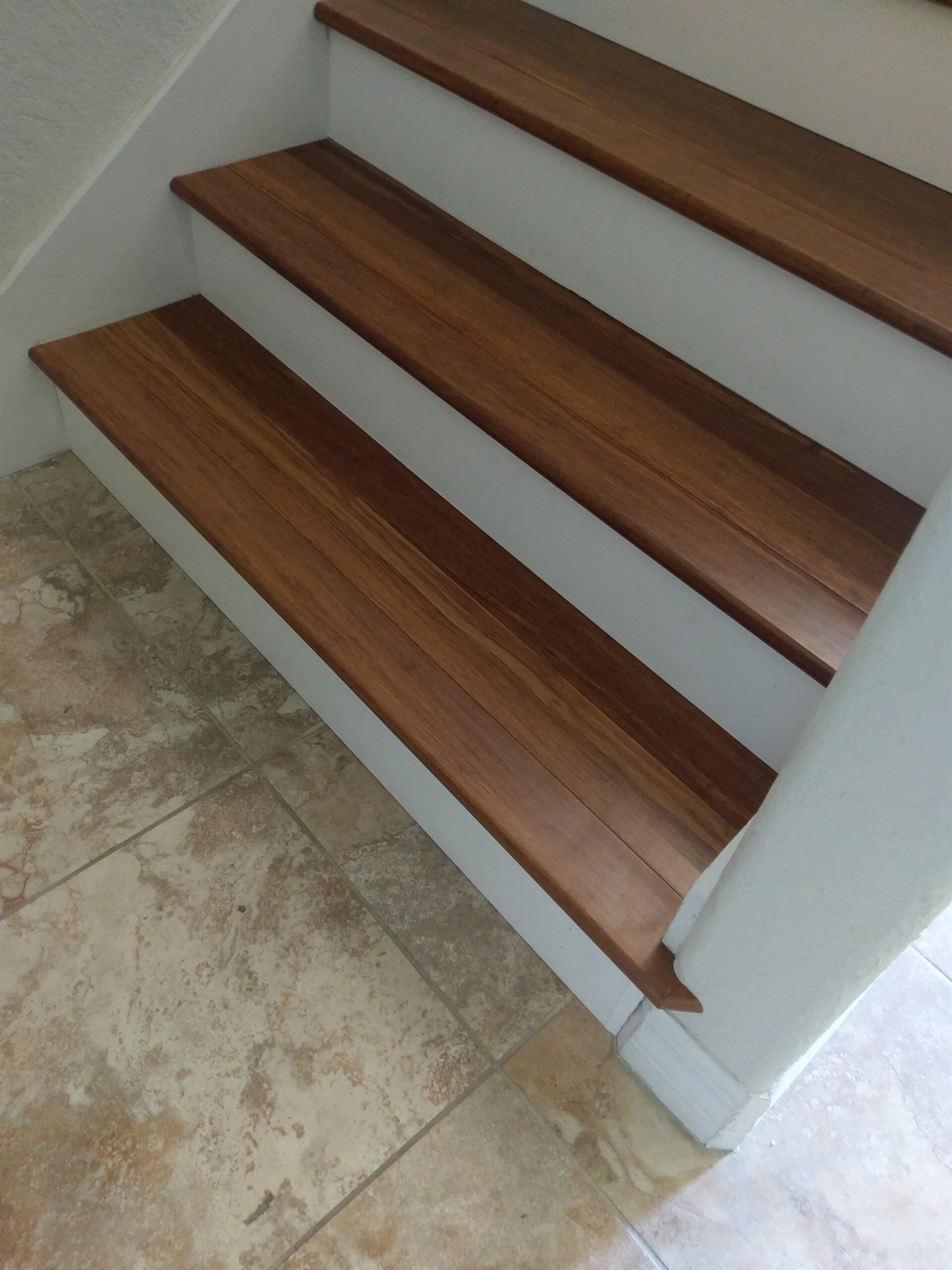 Custom white and wood stairs in Clearwater, FL from Floor Depot