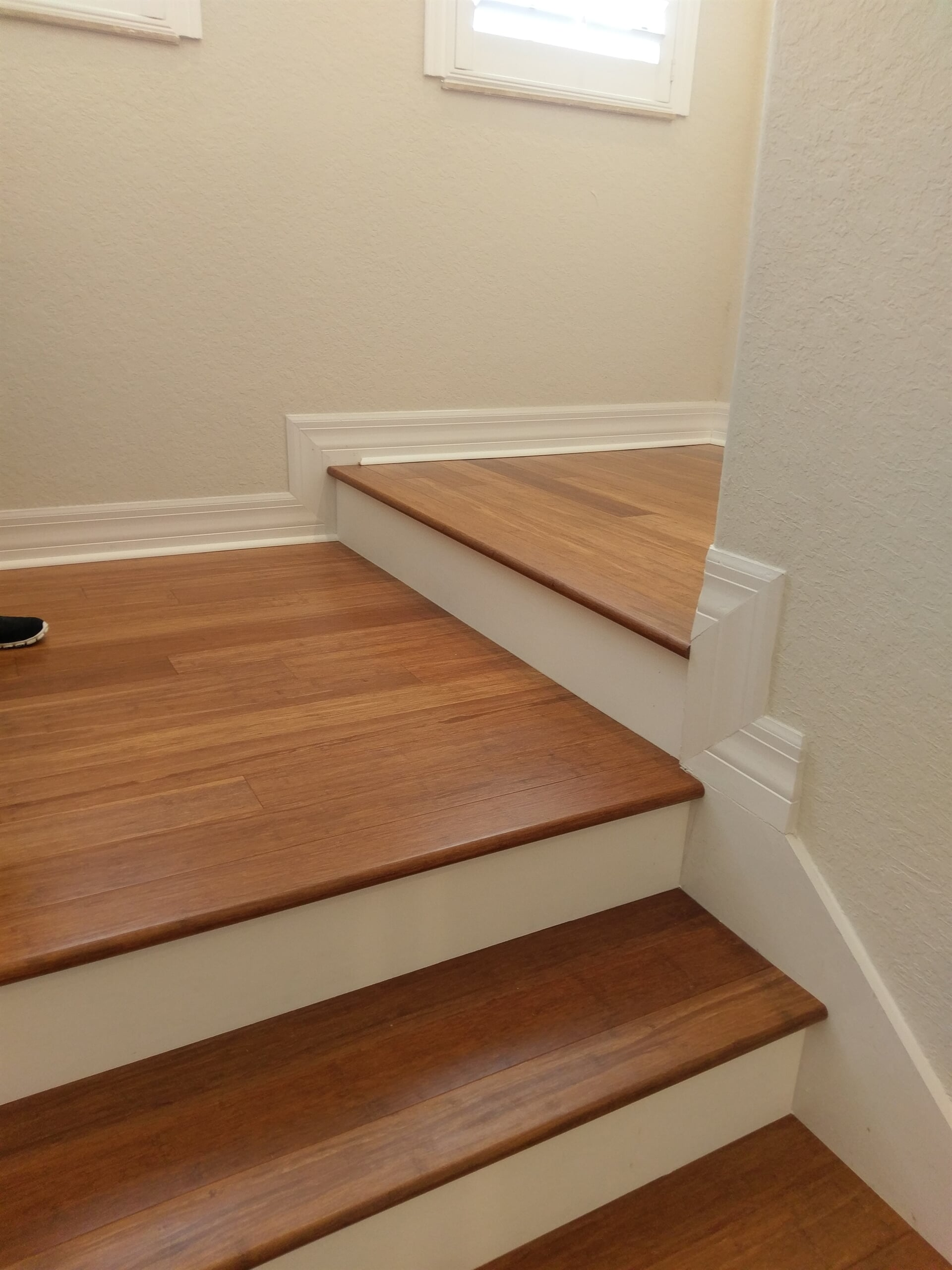 Gorgeous wood stairs in Clearwater, FL from Floor Depot