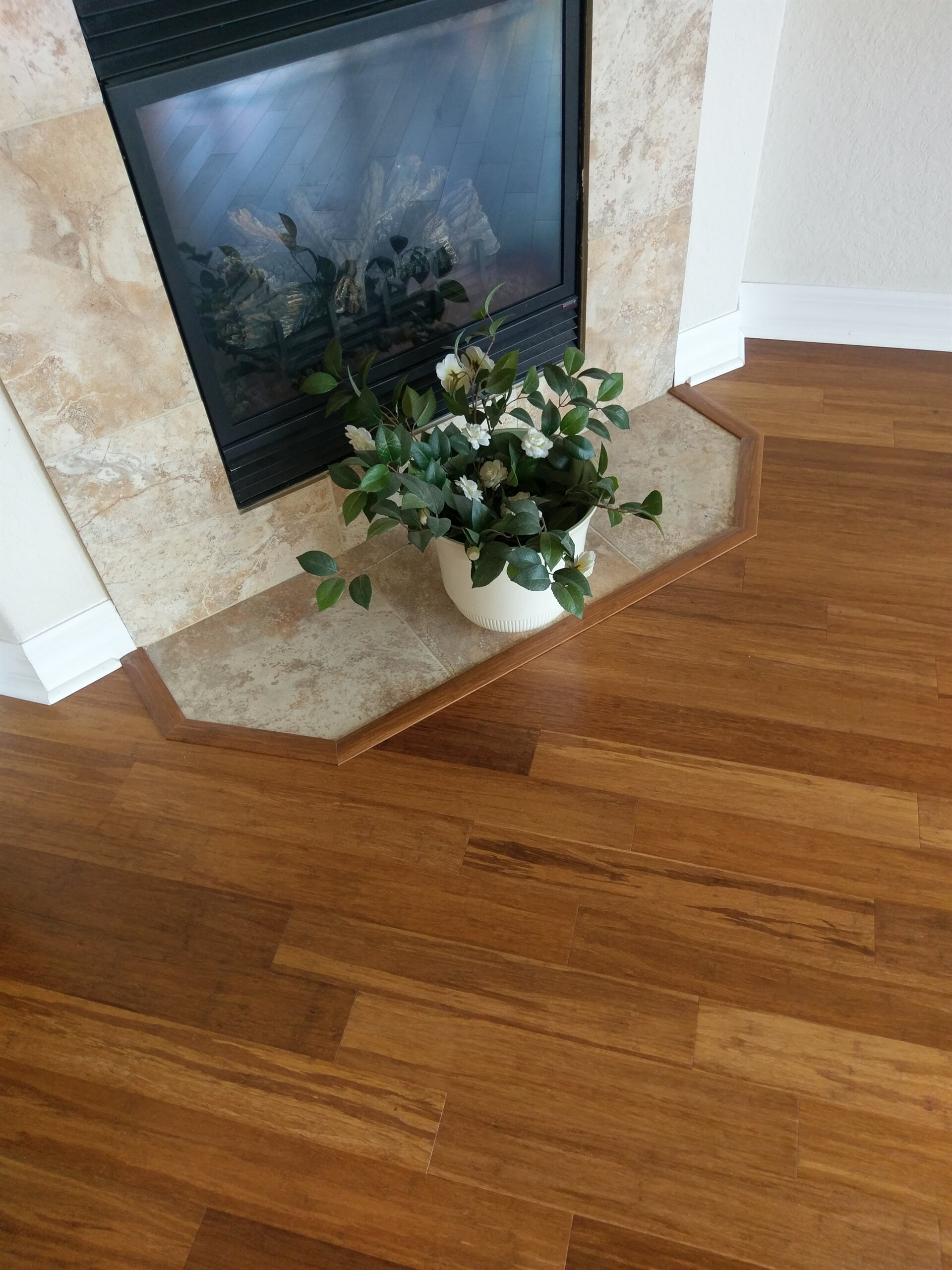 Fireplace surround and flooring trim in Clearwater, FL from Floor Depot