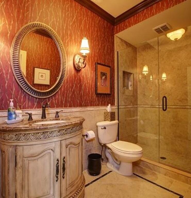 Eclectic bathroom design in St Petersburg, FL from Floor Depot
