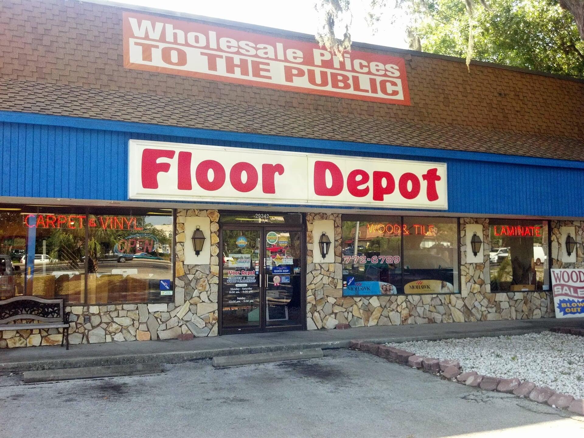 The Floor Depot showroom in Dunedin, FL