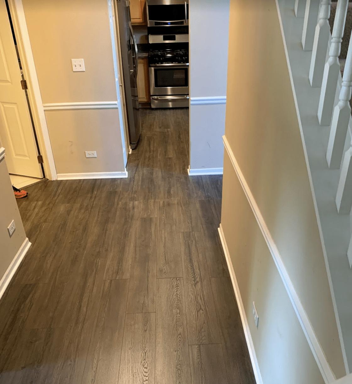 New flooring installation in Palatine, IL from Alpha Carpet & Flooring