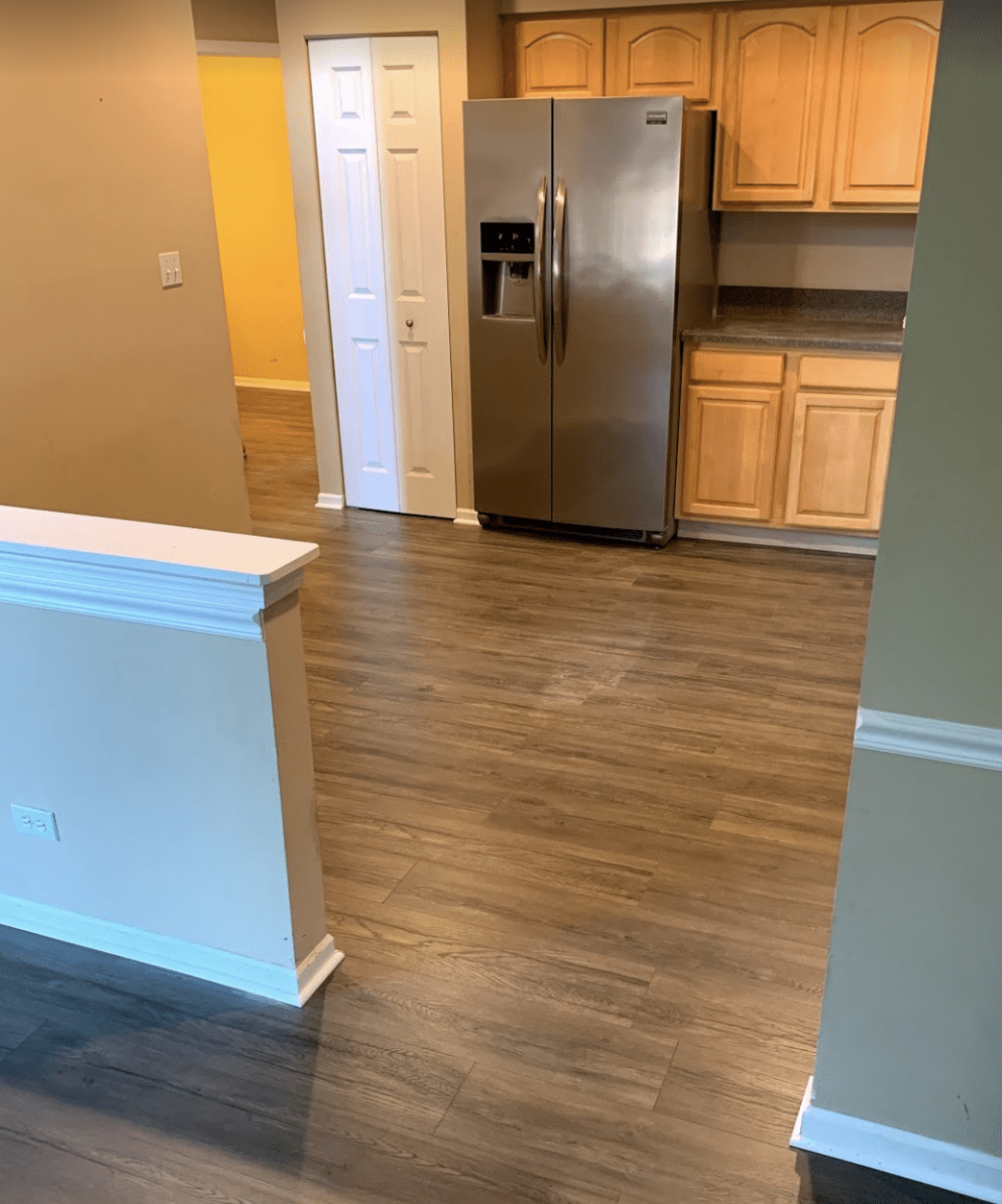 Wood look kitchen flooring in Mount Prospect, IL from Alpha Carpet & Flooring