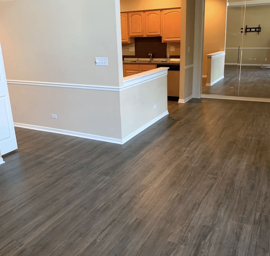 Modern wood look flooring in Rolling Meadows, IL from Alpha Carpet & Flooring