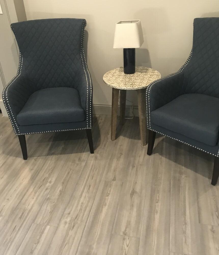 Remodeled sitting area in Glastonbury, CT from Custom Floors
