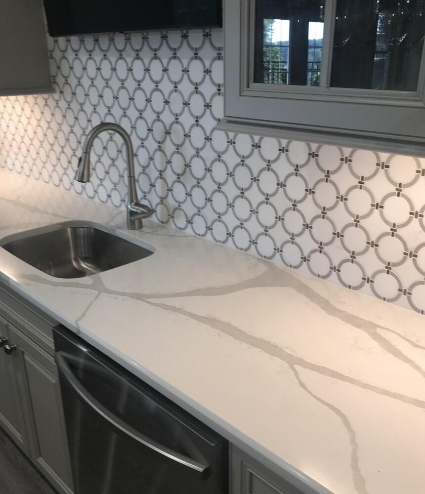 Custom tile backsplash in Rocky Hill, CT from Custom Floors