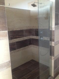 Shower installation in Lethbridge, AB from Omega Flooring