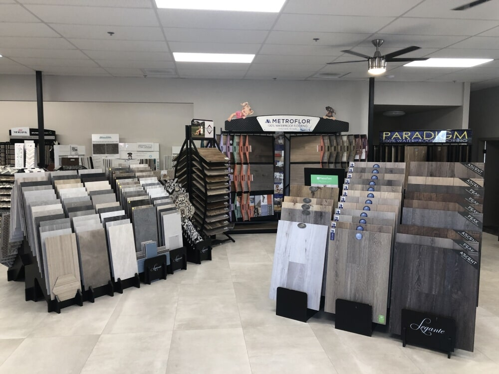Tile flooring from the A&R Flooring showroom in Cottonwood, AZ