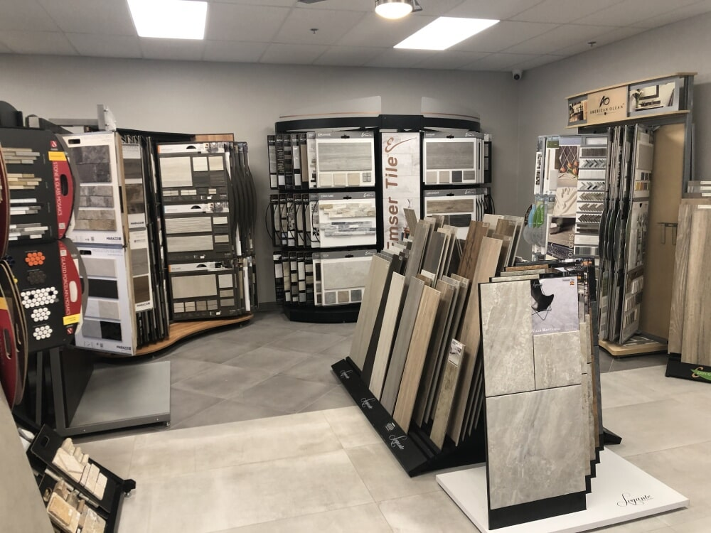 Tile flooring from the A&R Flooring showroom in Lake Montezuma, AZ