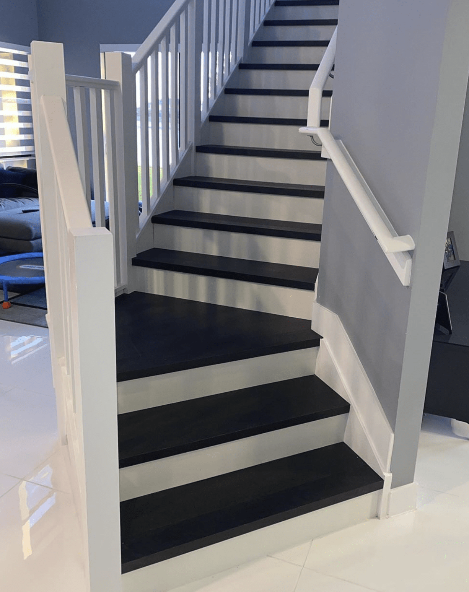 Hardwood stairs in Miami Beach, FL from Global Wood Floors