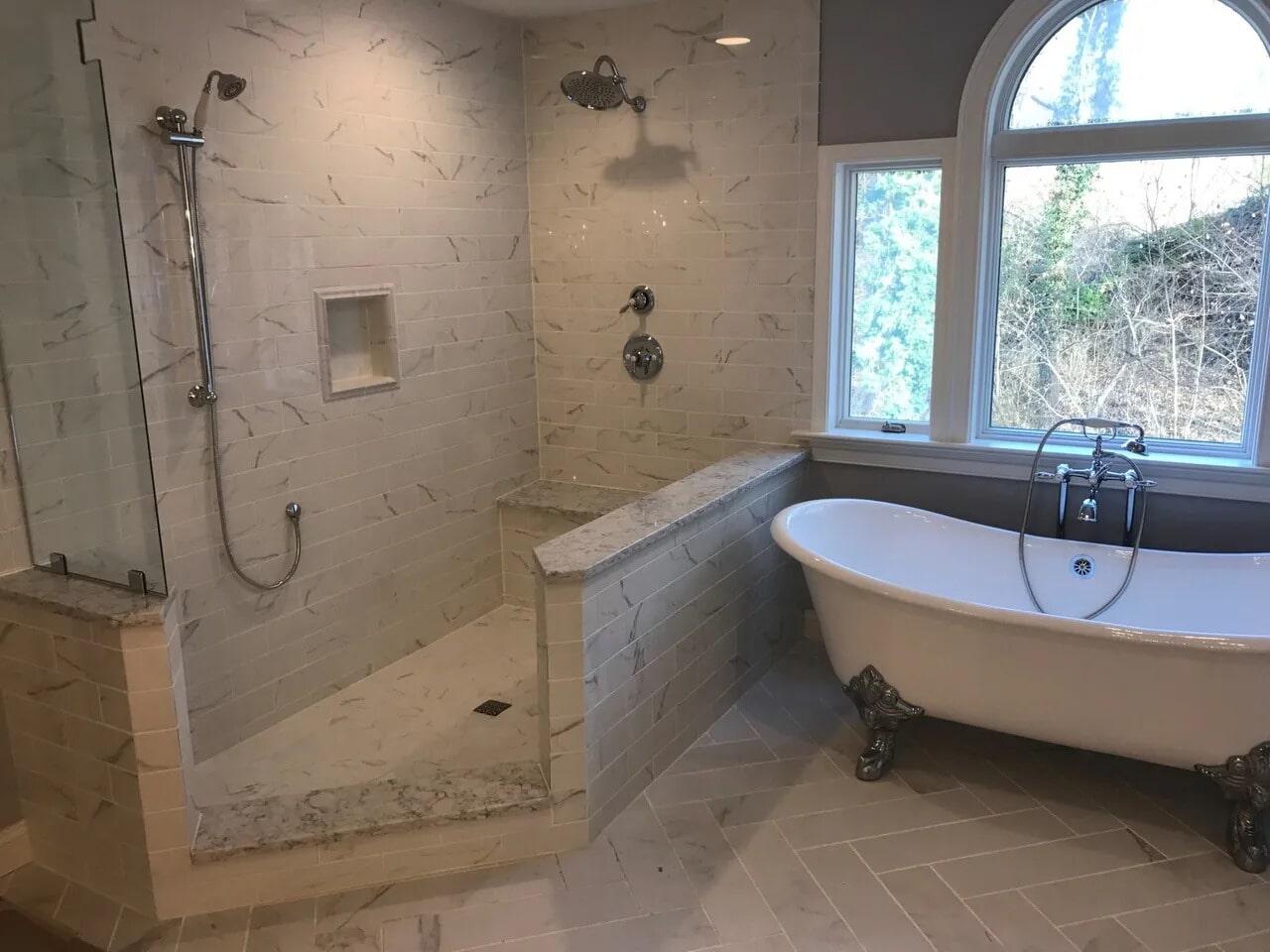 Bathroom tile in York, PA from Chuck Kraft Carpets