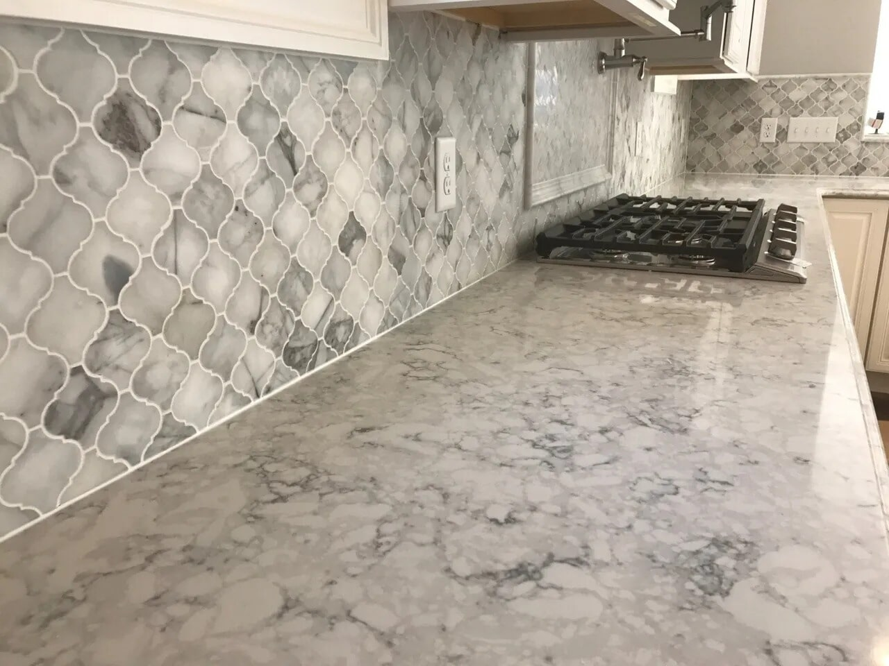 Marble Tile Backsplash in Zions View, PA from Chuck Kraft Carpets