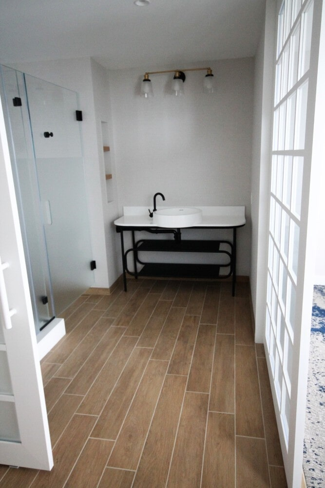 Brenton Hotel Newport Room Floor Bathroom Canterino Ecowood 6 inches by 36 inches in Sandwich, MA from Paramount Rug Company