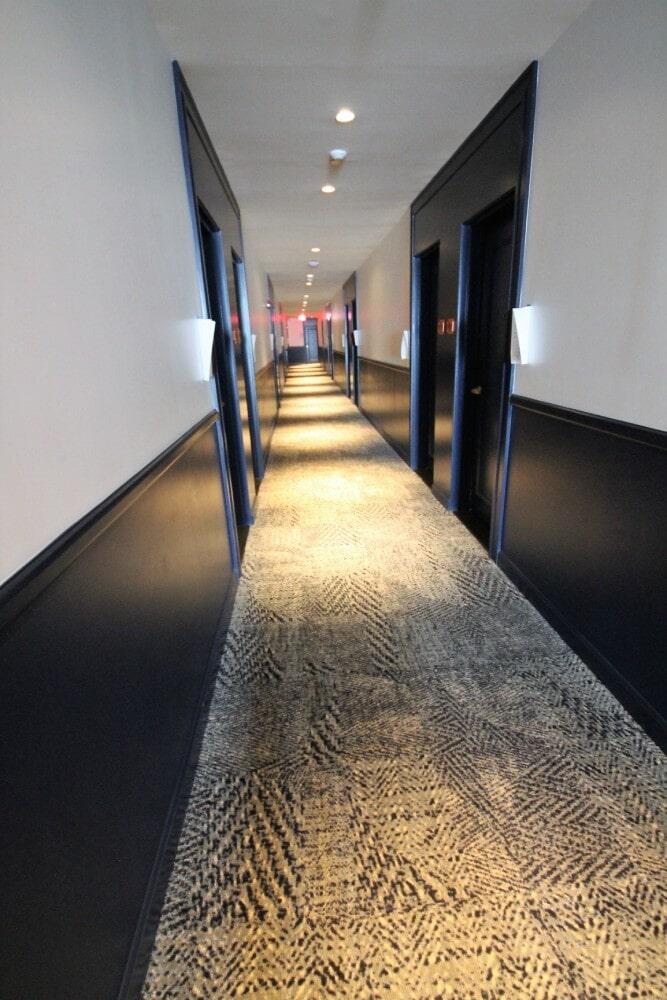 Newport RI Hammetts Wharf Hotel Hallway Shaw Hospitality Carpet in Hyannis, MA from Paramount Rug Company