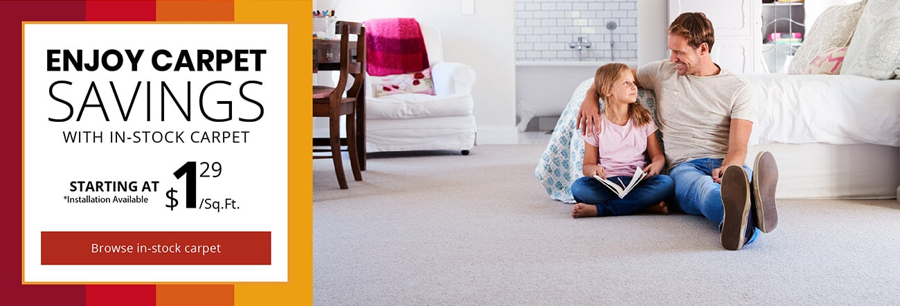 In-stock carpet savings in  from Appleton Carpetland USA