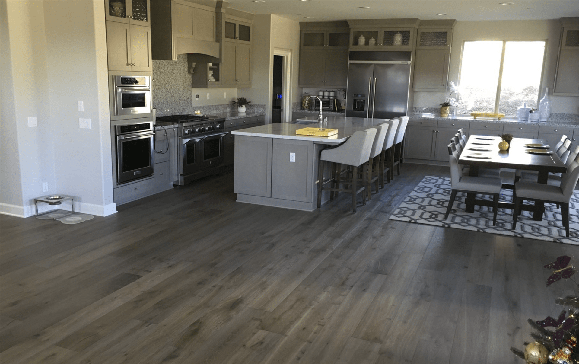 Kitchen and dining remodel in Yorba Linda, CA from TS Home Design Center / Rite Loom Flooring