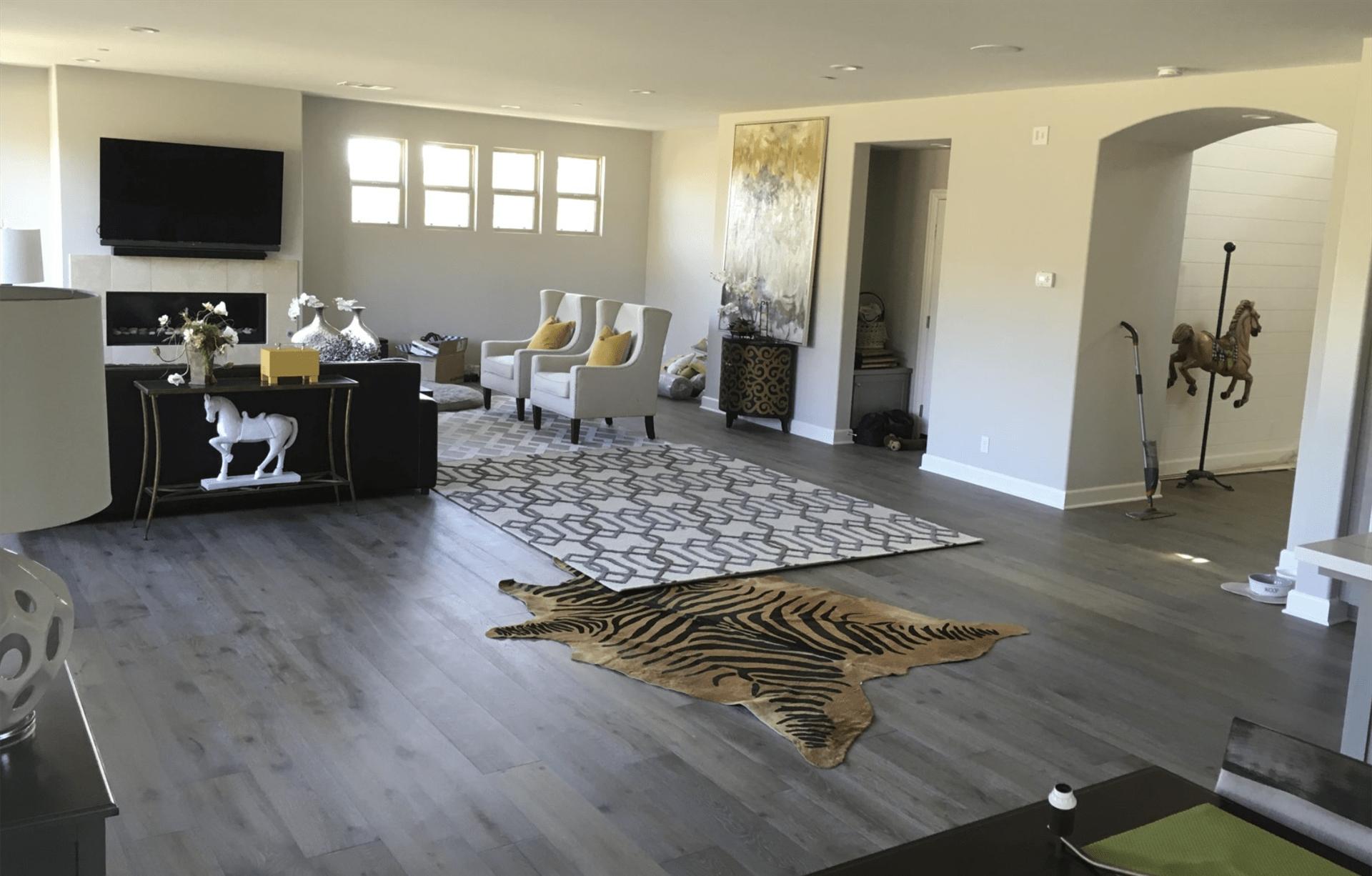 Open living space design in Fullerton, CA from TS Home Design Center / Rite Loom Flooring
