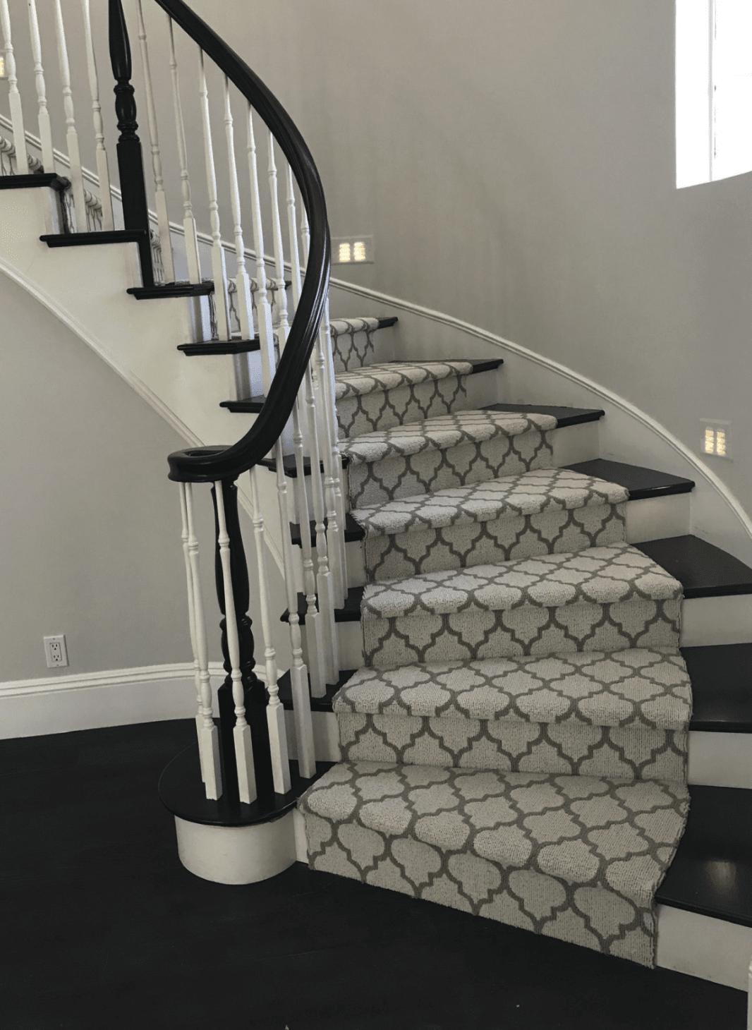 Patterned carpet runner in Fullerton, CA from TS Home Design Center / Rite Loom Flooring