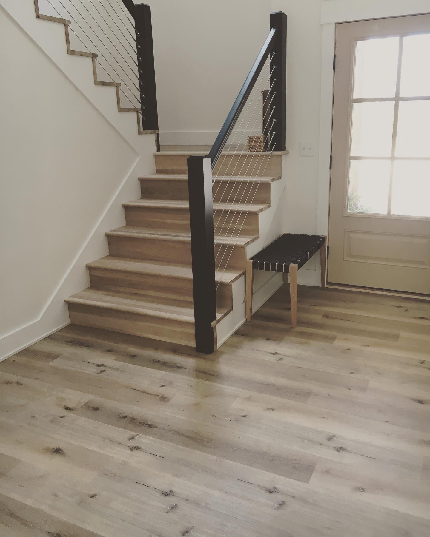 Natural hardwood flooring and stairs in West Chester, PA from Freedom Flooring