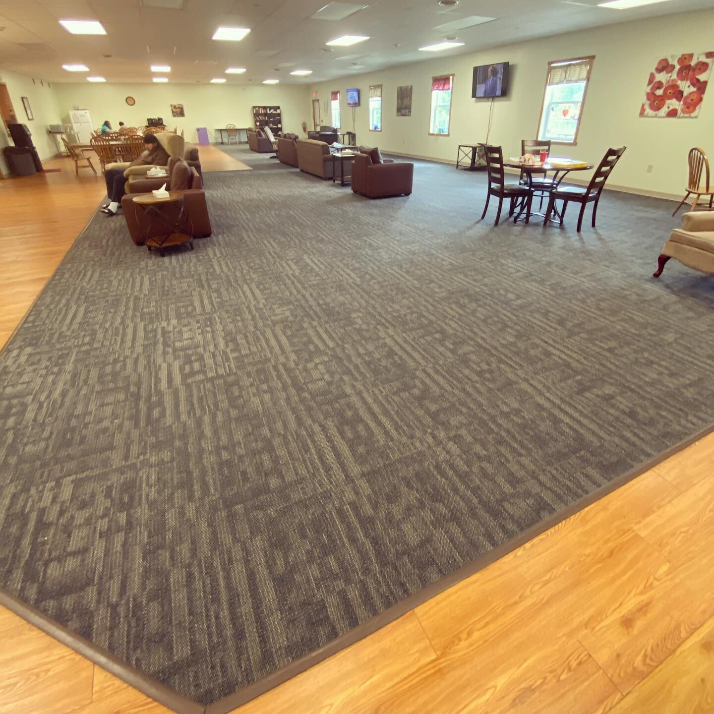 Commercial flooring installation in Pottstown, PA from Freedom Flooring