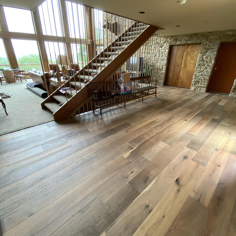 Beautiful multi tone wood floors in Harrisburg, PA from Freedom Flooring