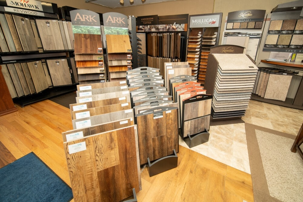 Rhodes Carpet & Installation showroom near Washington County, PA