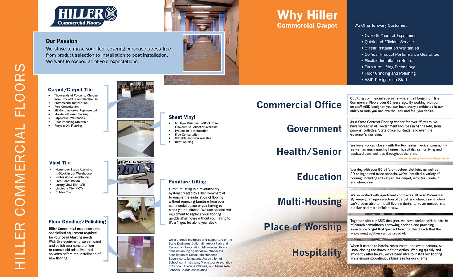 Why you should choose Hiller Commercial Carpet for your business