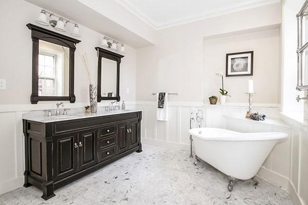 Contemporary bathroom remodel in Villanova, PA from Interior Trend