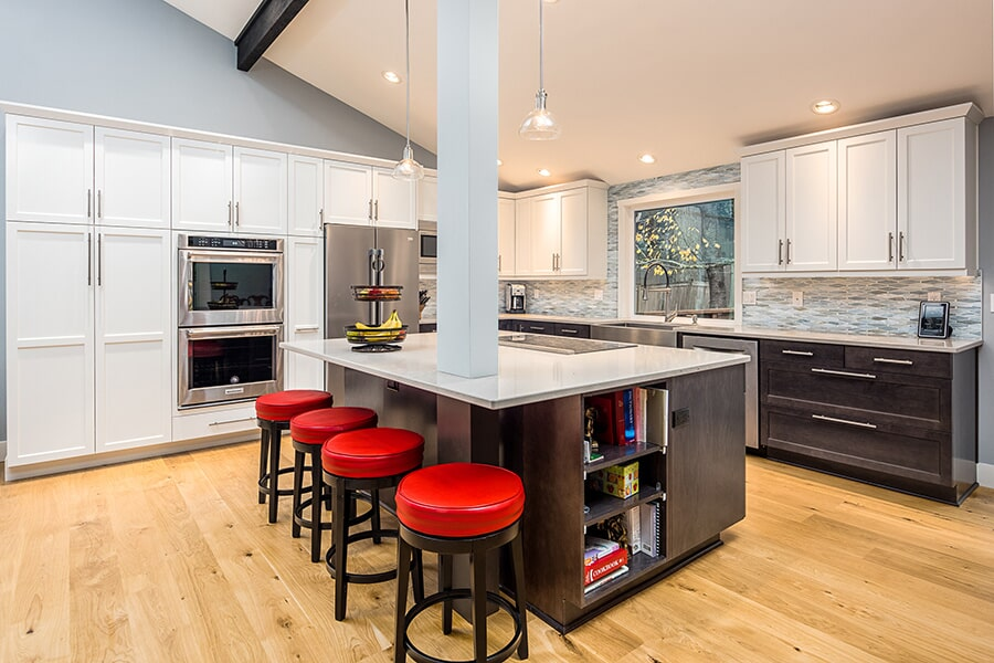 Modern kitchen remodel in Mill Creek, WA from LeBlanc Floors & Interiors