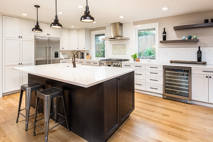 Beautiful white countertops in Seattle, WA from LeBlanc Floors & Interiors