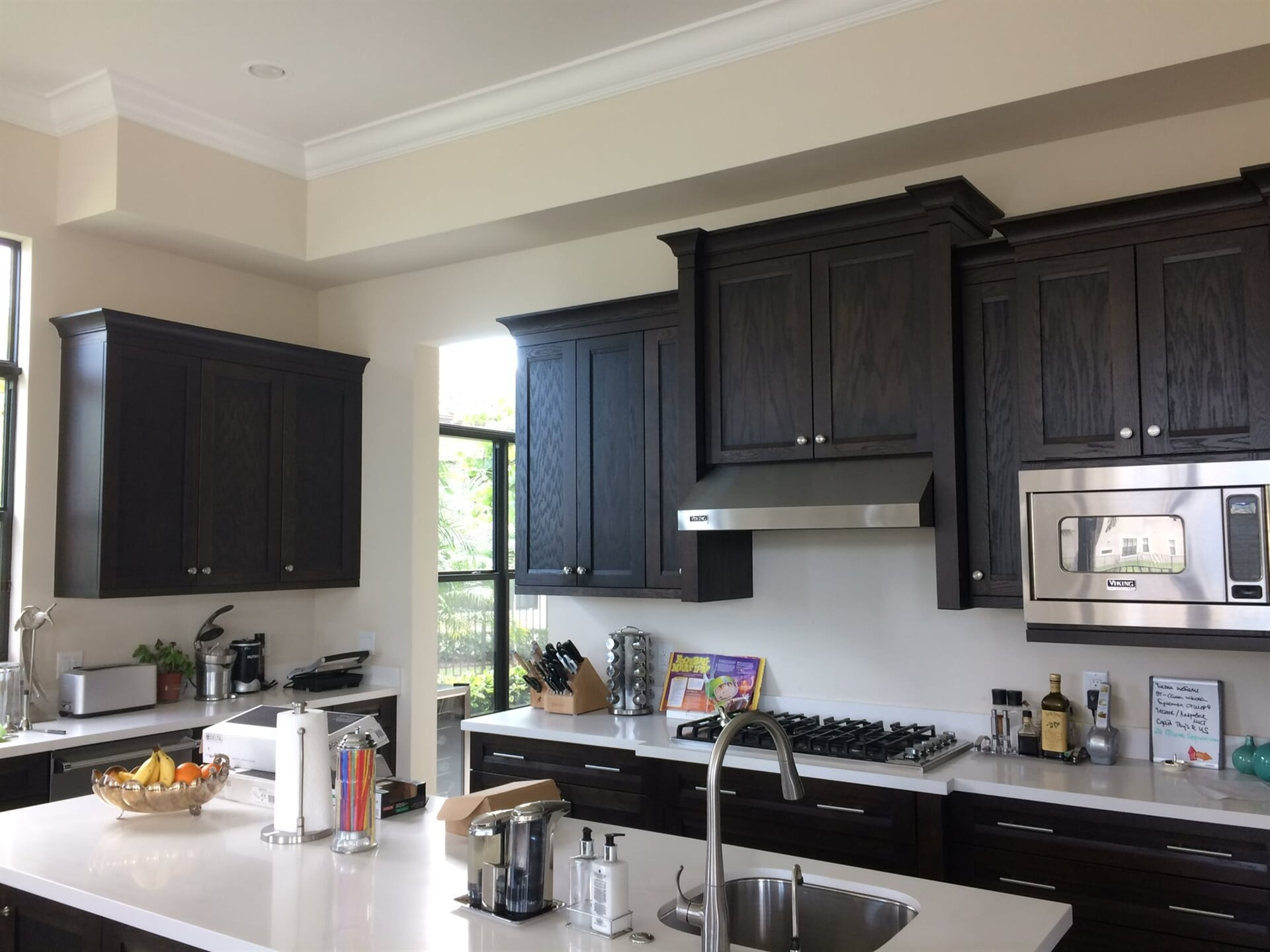 Dark cabinetry in Juno Beach, FL from Floors For You Kitchen & Bath