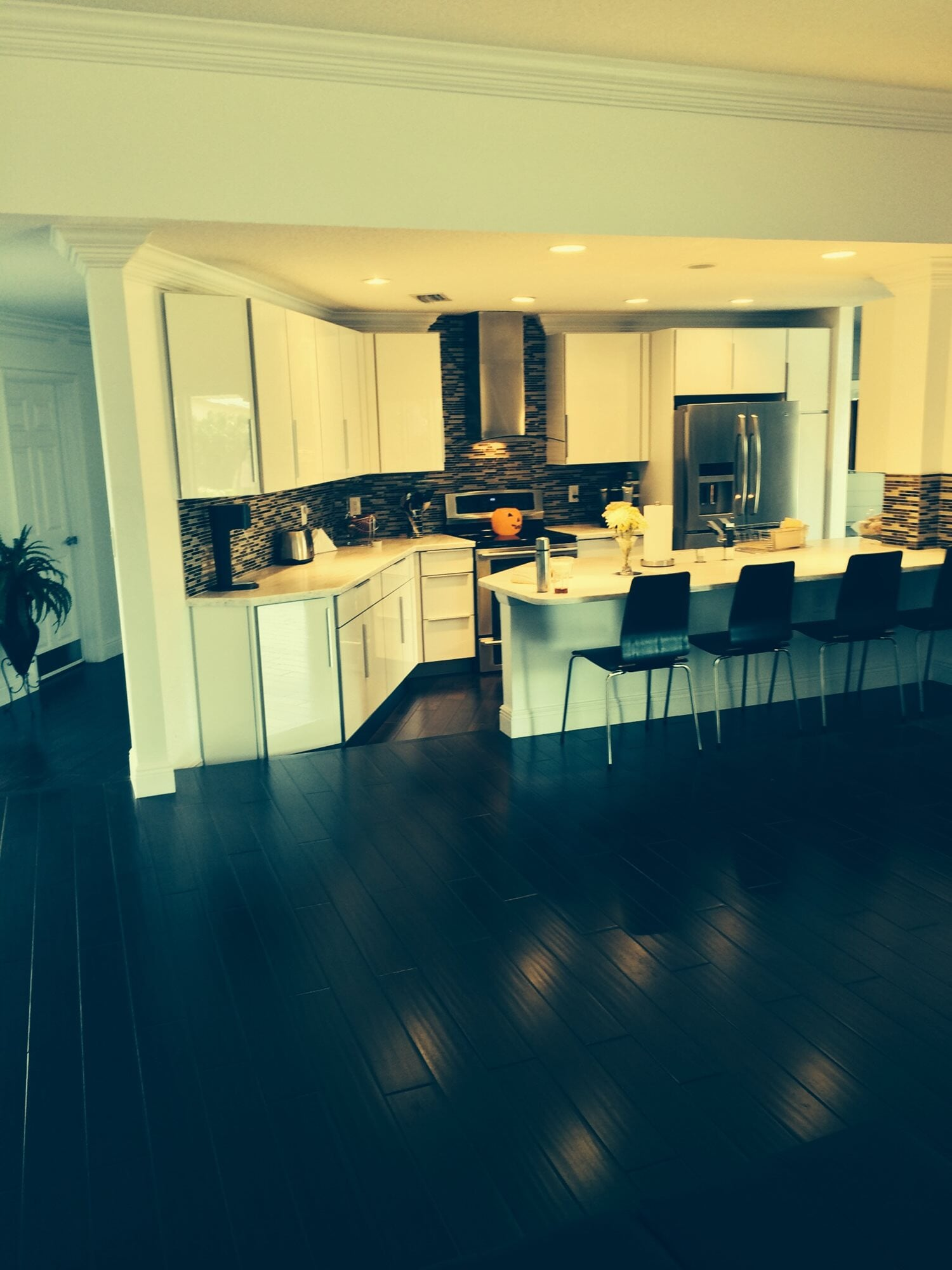 Black and white kitchen design in Palm Beach Gardens, FL from Floors For You Kitchen & Bath