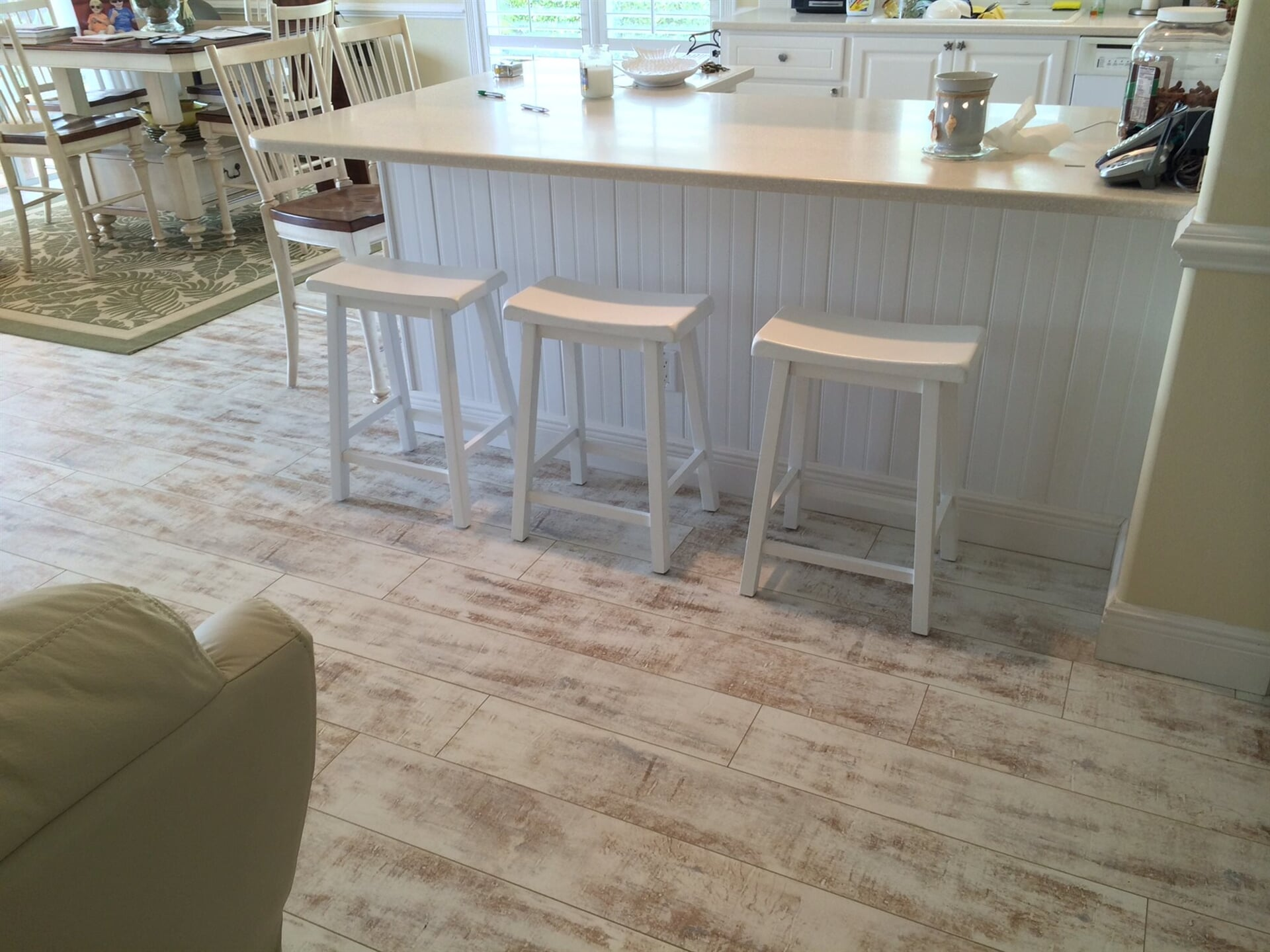 Light tone rustic flooring in West Palm Beach, FL from Floors For You Kitchen & Bath