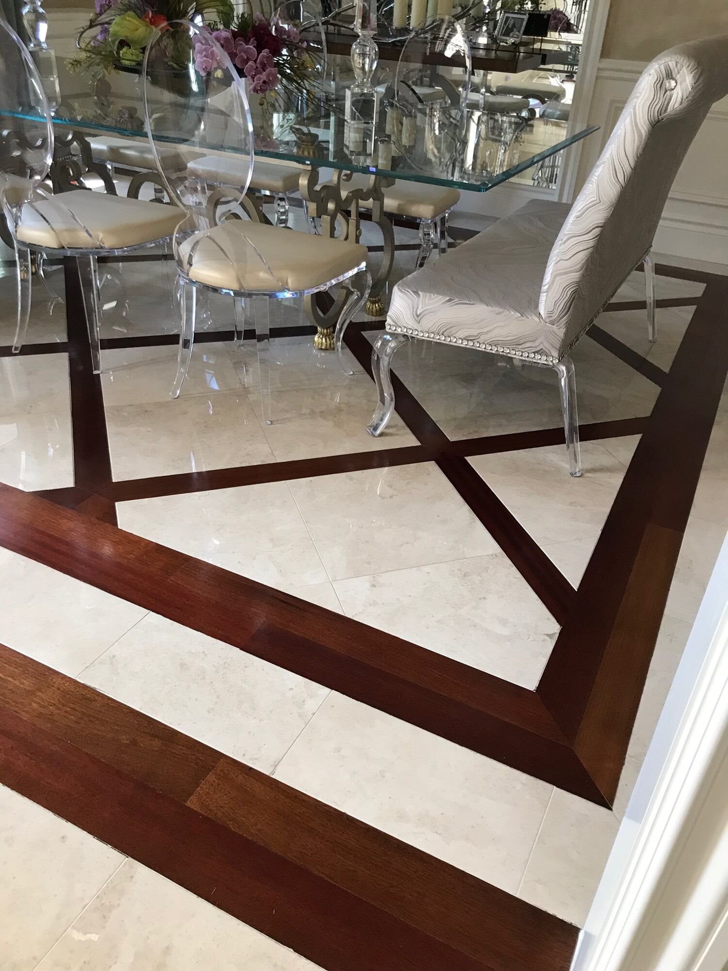 Custom inlay flooring in West Palm Beach, FL from Floors For You Kitchen & Bath