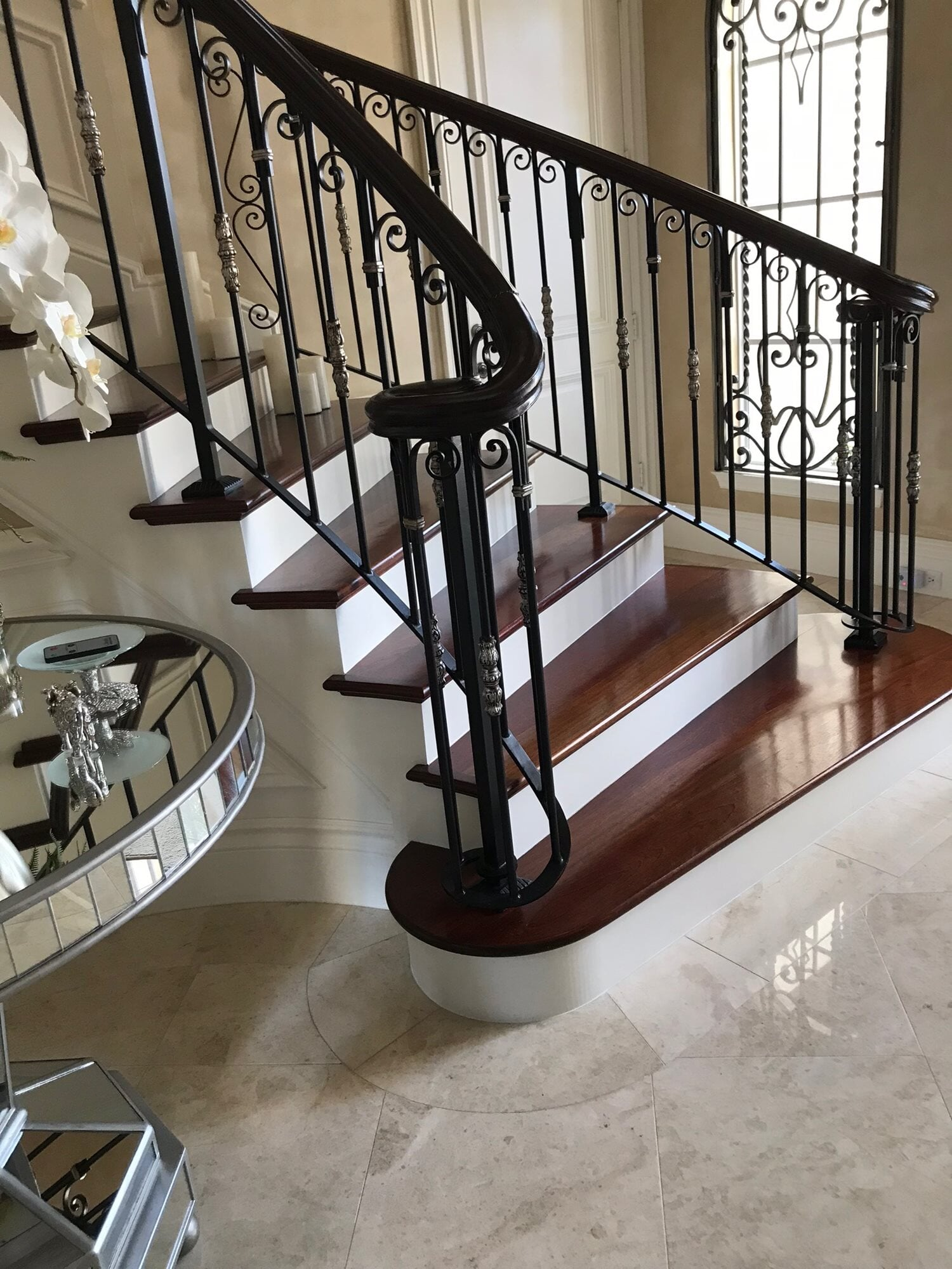 Custom stair landing in Hobe Sound, FL from Floors For You Kitchen & Bath