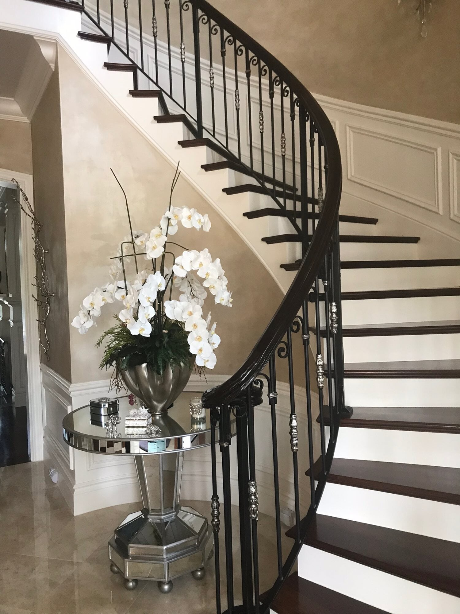 Custom stairway in Juno Beach, FL from Floors For You Kitchen & Bath