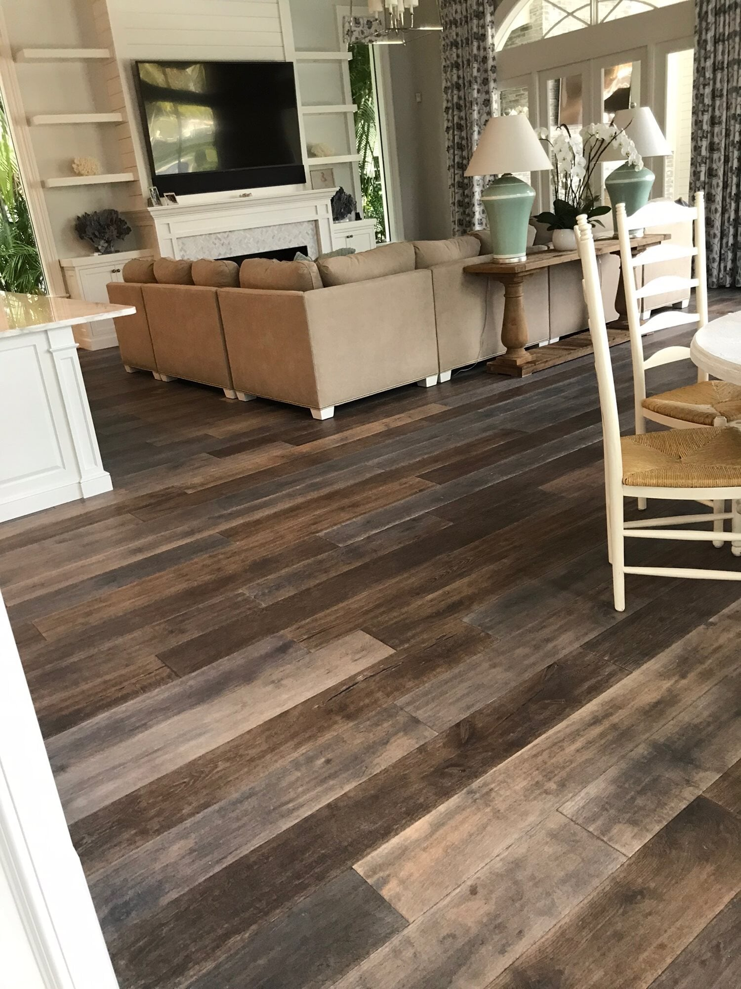 Multi tone wood flooring in Palm Beach Gardens, FL from Floors For You Kitchen & Bath