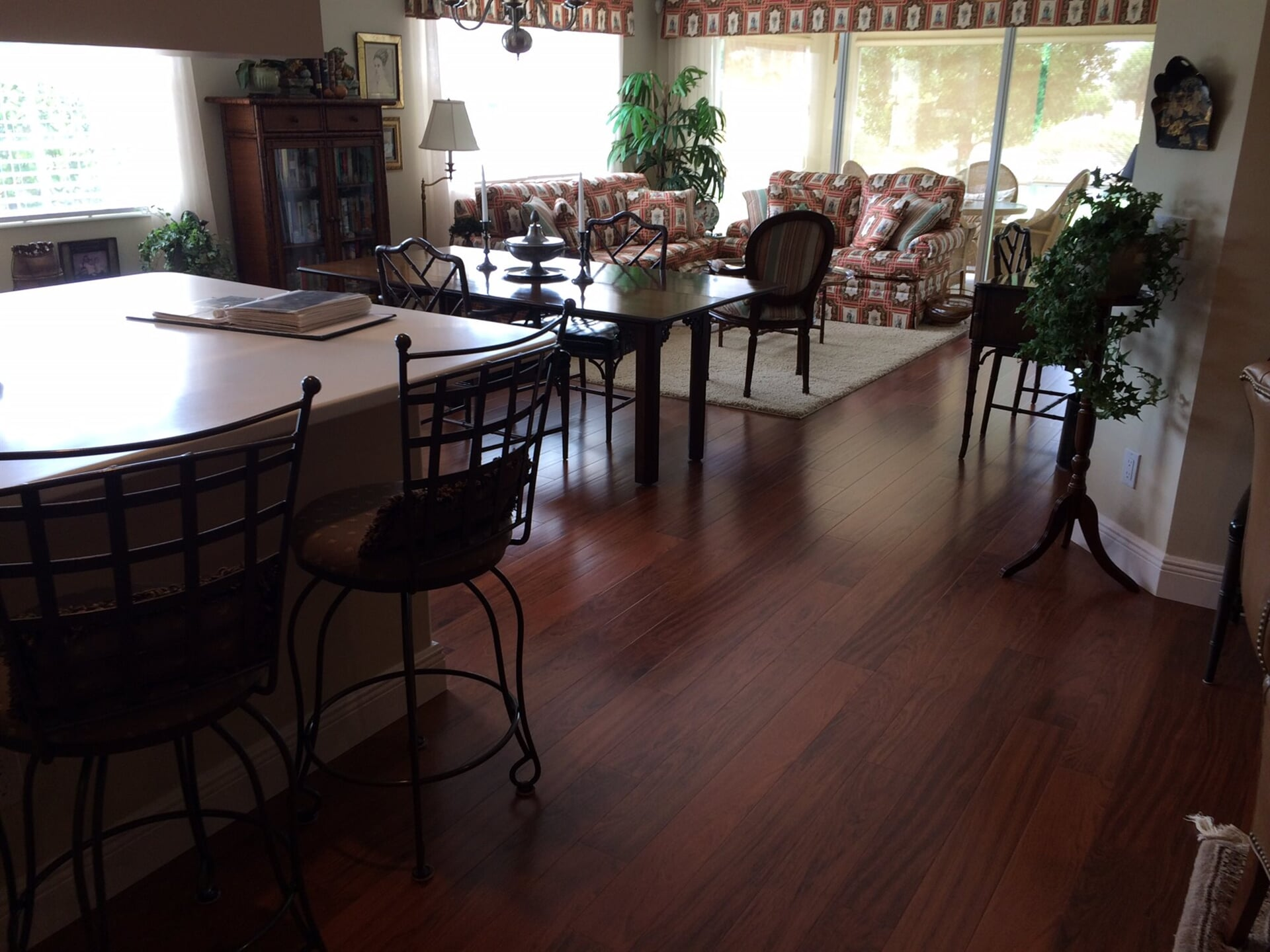 Dark tone wood flooring in Boca Roton, FL from Floors For You Kitchen & Bath