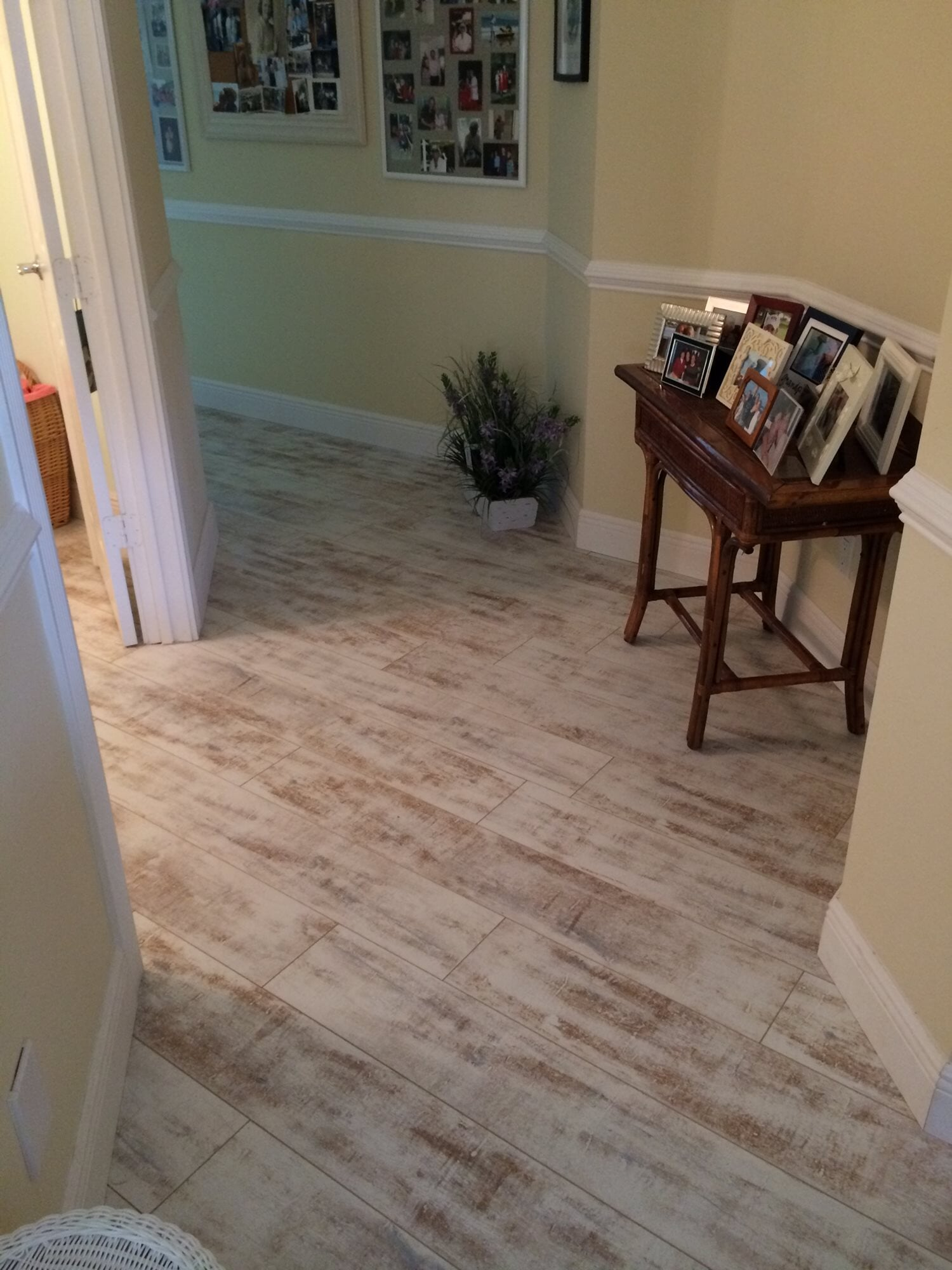 Rustic wood look tile in Juno Beach, FL from Floors For You Kitchen & Bath