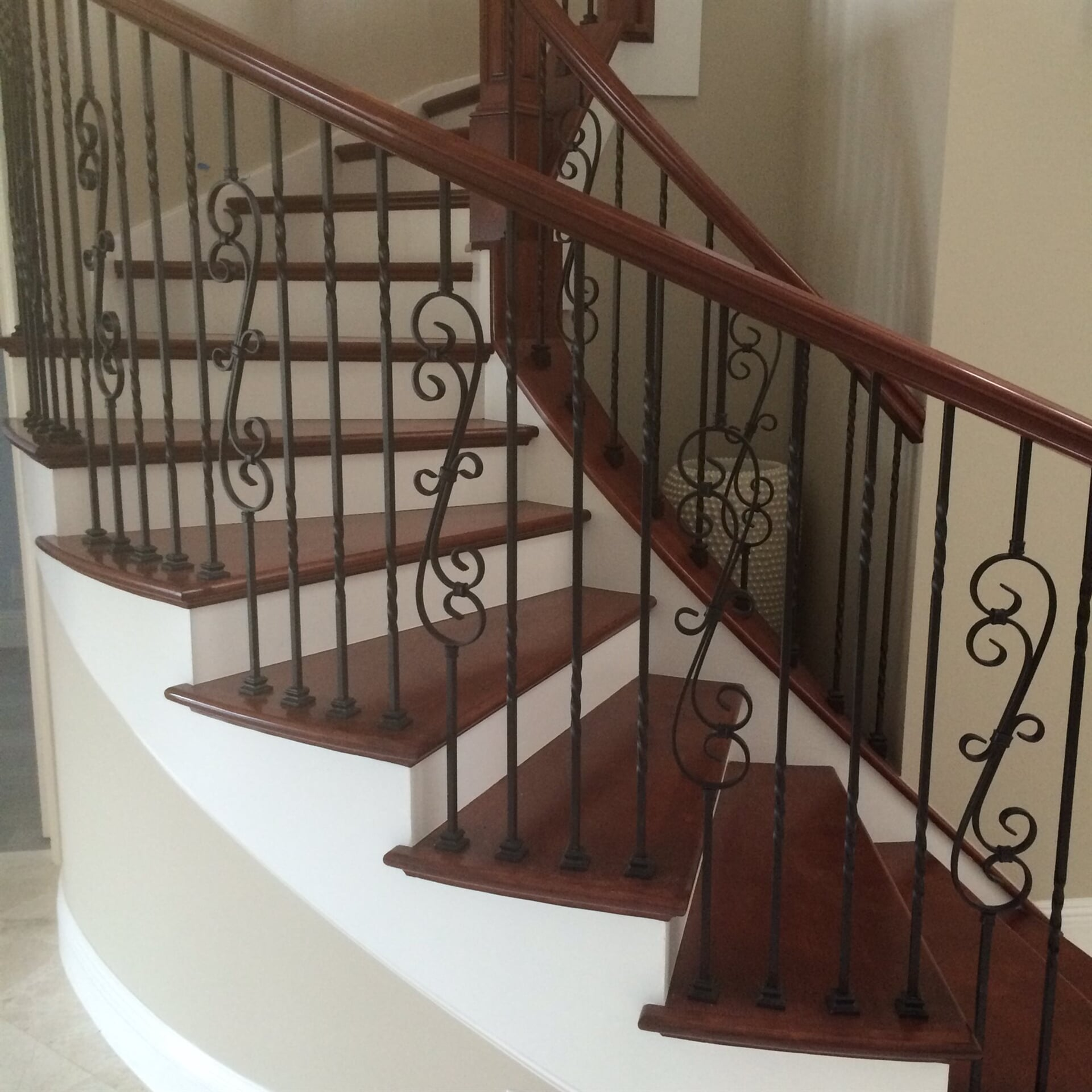 Wood stairs in West Palm Beach, FL from Floors For You Kitchen & Bath