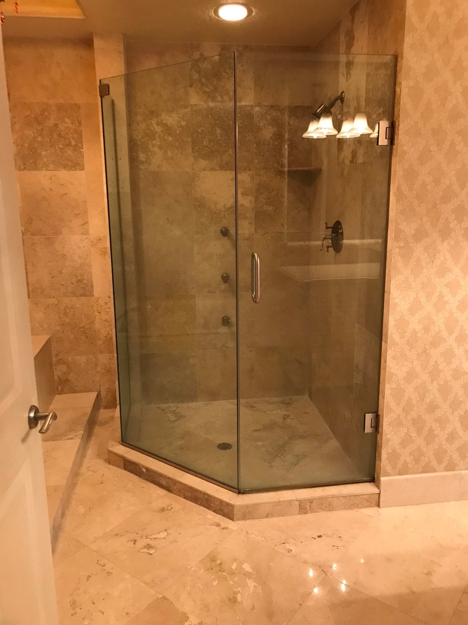 Travertile bathroom tile in Palm Beach Gardens, FL from Floors For You Kitchen & Bath