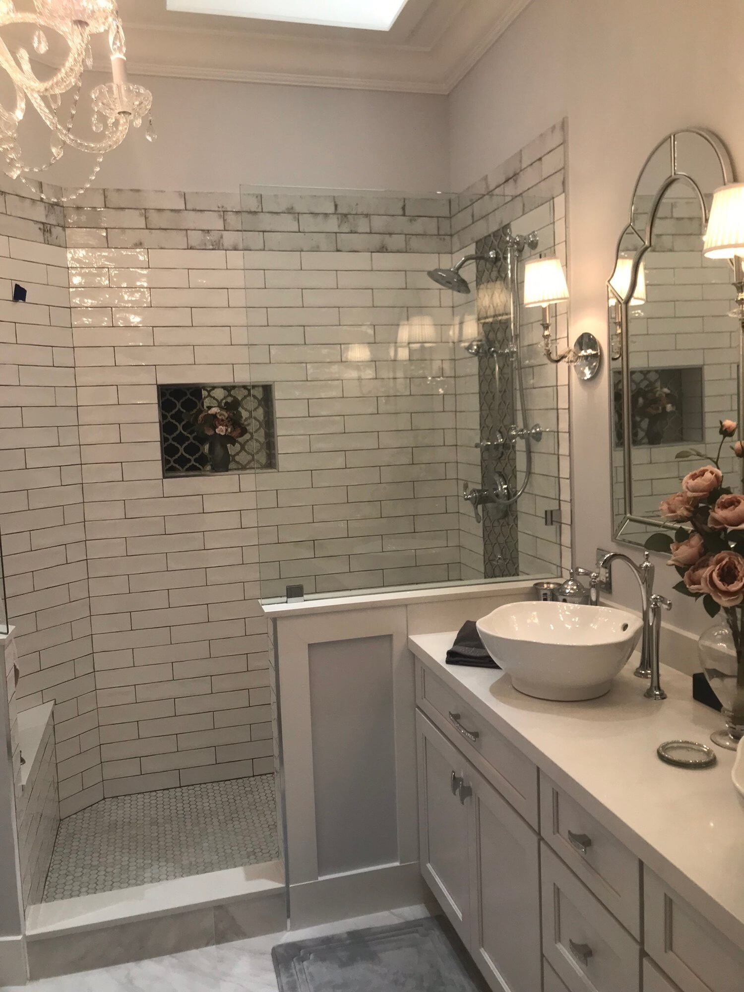 Subway tile shower in West Palm Beach, FL from Floors For You Kitchen & Bath
