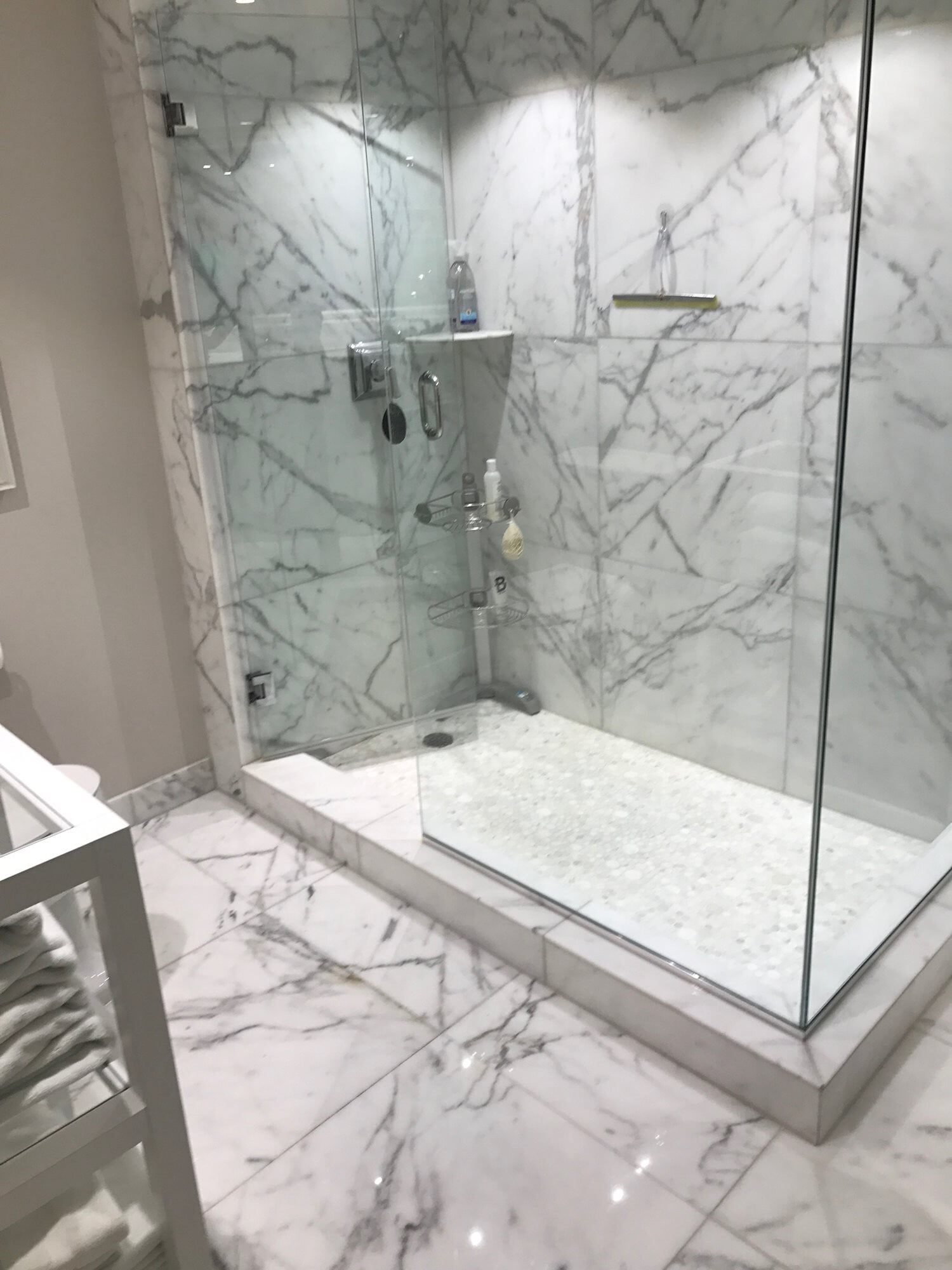 Large scale marble tiles in Boca Roton, FL from Floors For You Kitchen & Bath