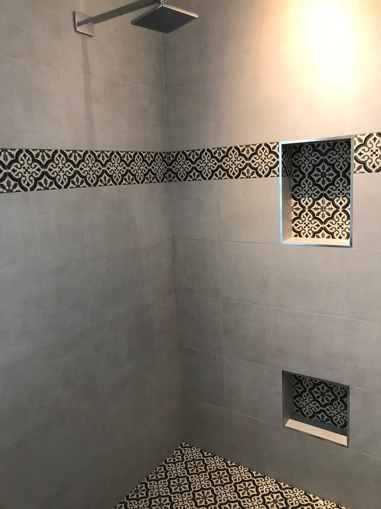 Modern tile shower in Jupiter, FL from Floors For You Kitchen & Bath