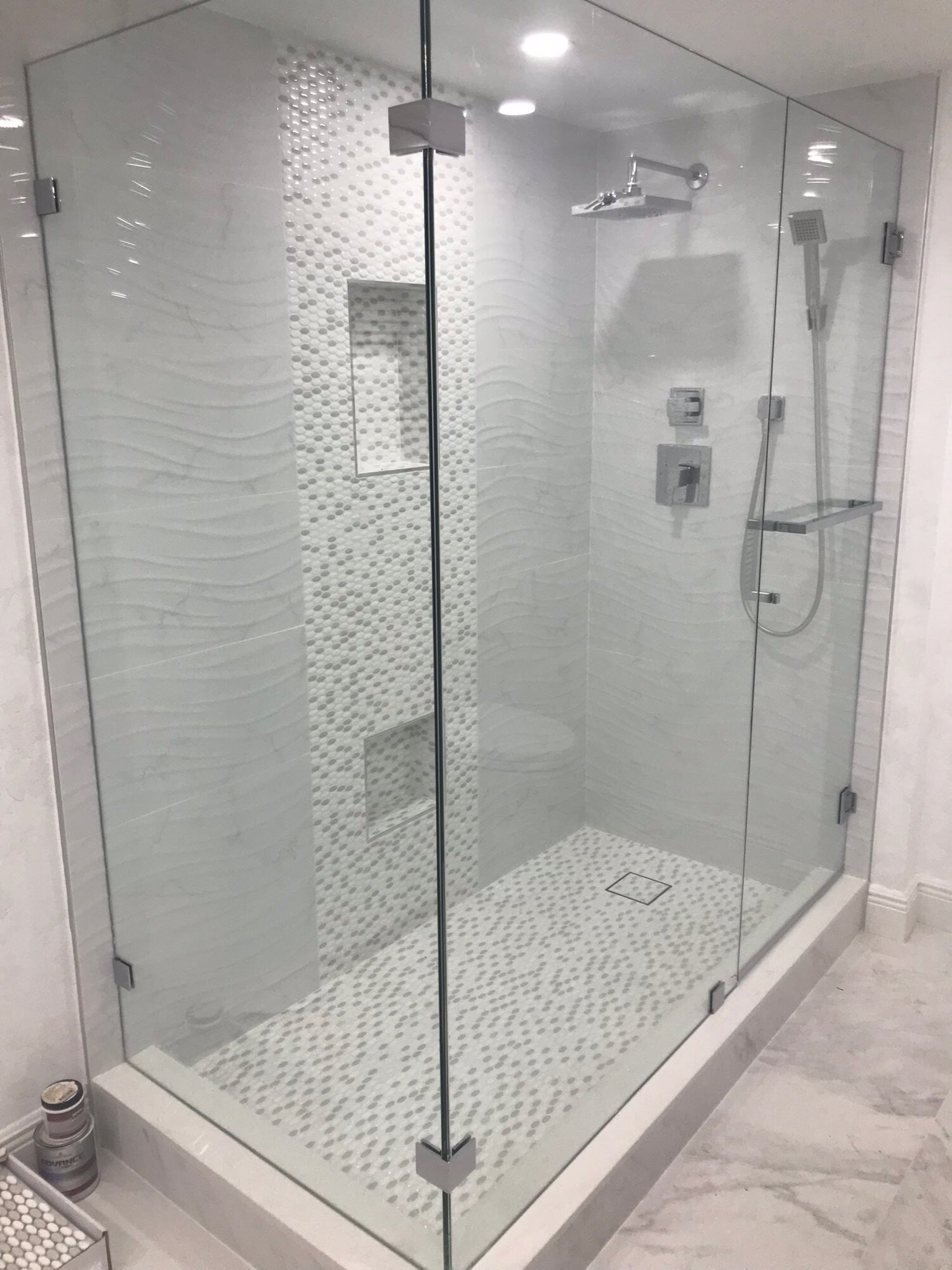 Bright shower design in West Palm Beach, FL from Floors For You Kitchen & Bath