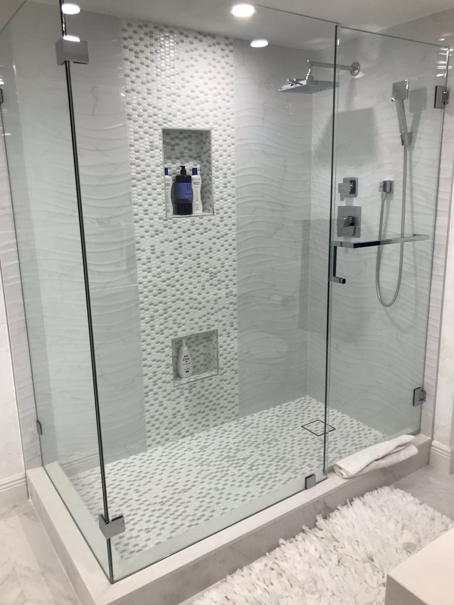 Tile shower installation in West Palm Beach, FL from Floors For You Kitchen & Bath