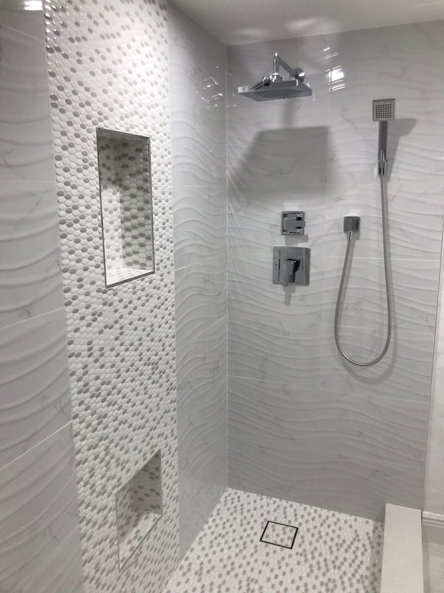 Custom shower design in Boca Roton, FL from Floors For You Kitchen & Bath