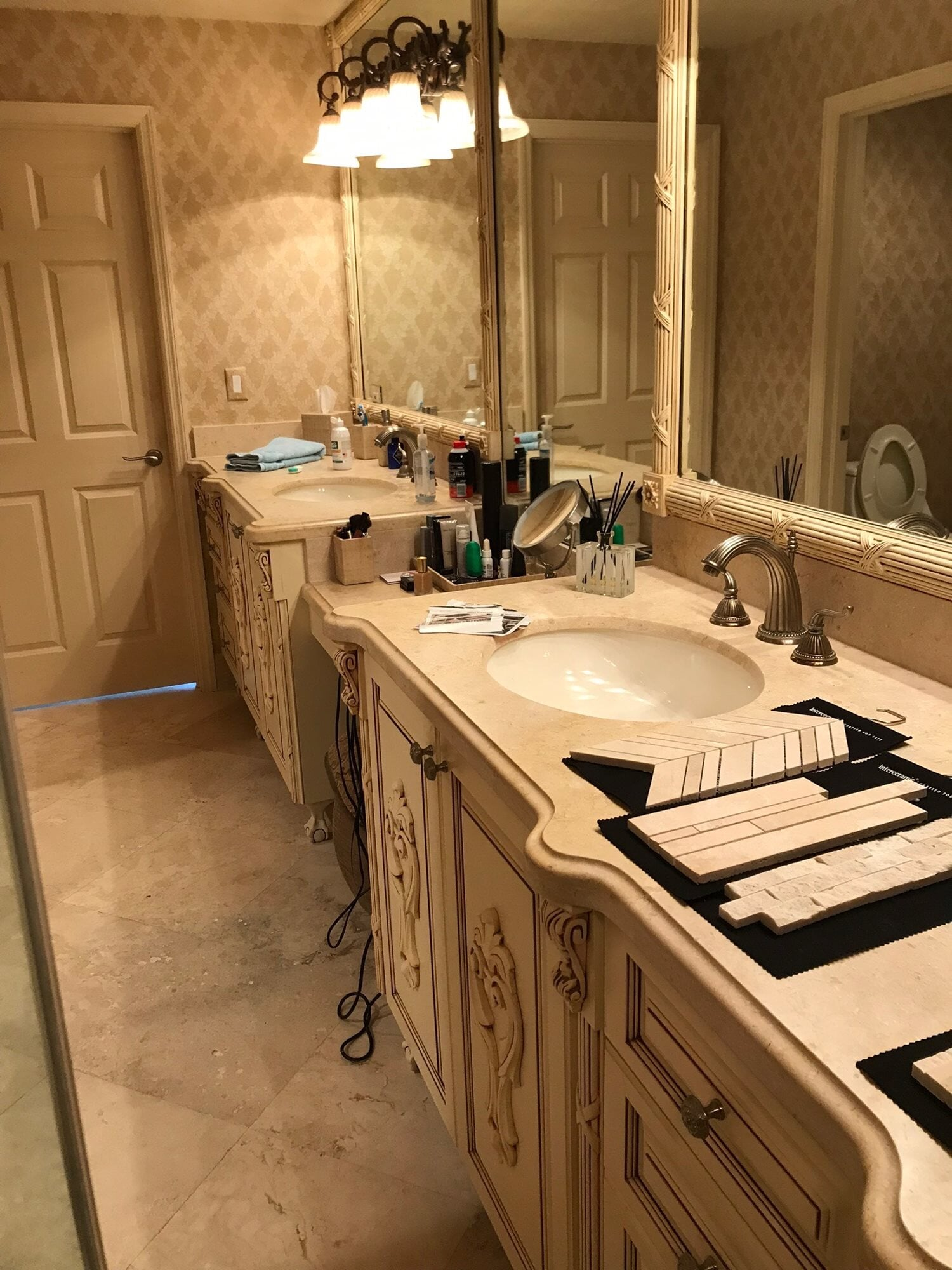 His and hers vanity in West Palm Beach, FL from Floors For You Kitchen & Bath