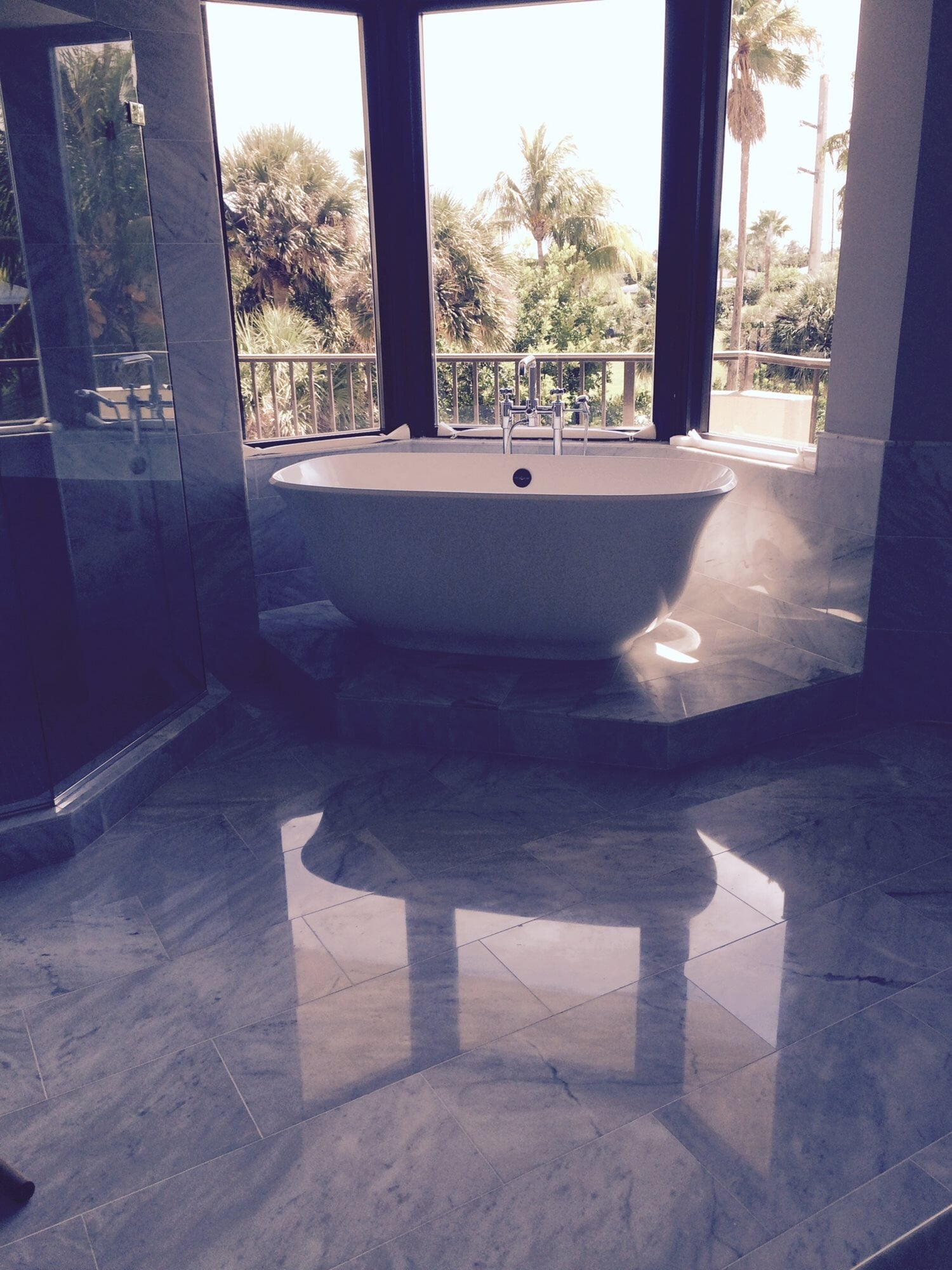 Beautiful master bathroom in Boca Roton, FL from Floors For You Kitchen & Bath