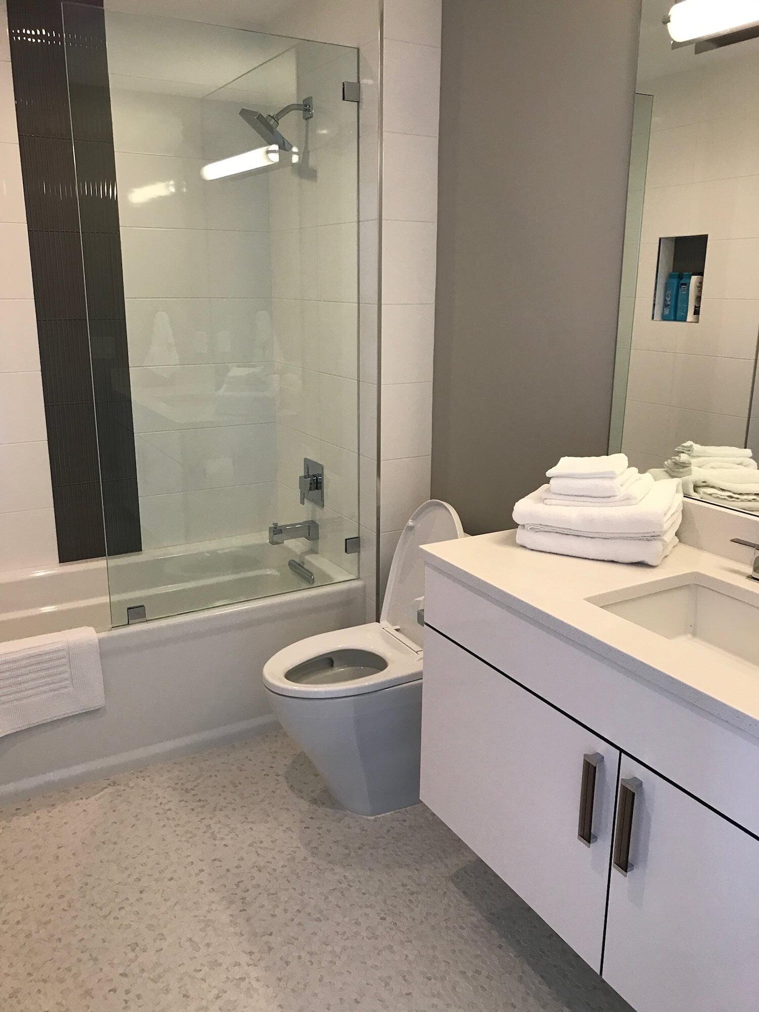 Modern bathroom design in Juno Beach, FL from Floors For You Kitchen & Bath